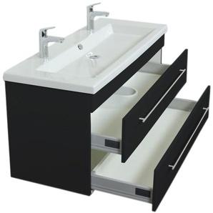 Unterschrank für Duravit 2nd Floor 120 cm schwarz seidenglanz