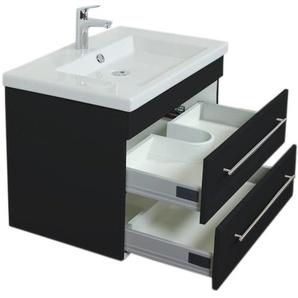 Unterschrank für Duravit 2nd Floor 80 cm schwarz seidenglanz