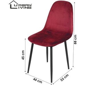 Urban Living   Set mit 4 Esszimmerstühlen Kevin