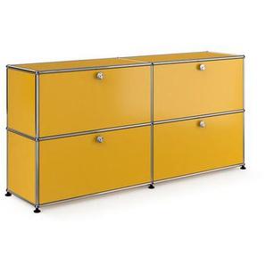 USM Haller - Sideboard - M mit 4 Klappen  - gelb