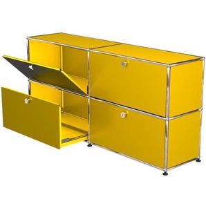 USM Haller - Sideboard - M mit je 2 Klappen und Auszügen - gelb