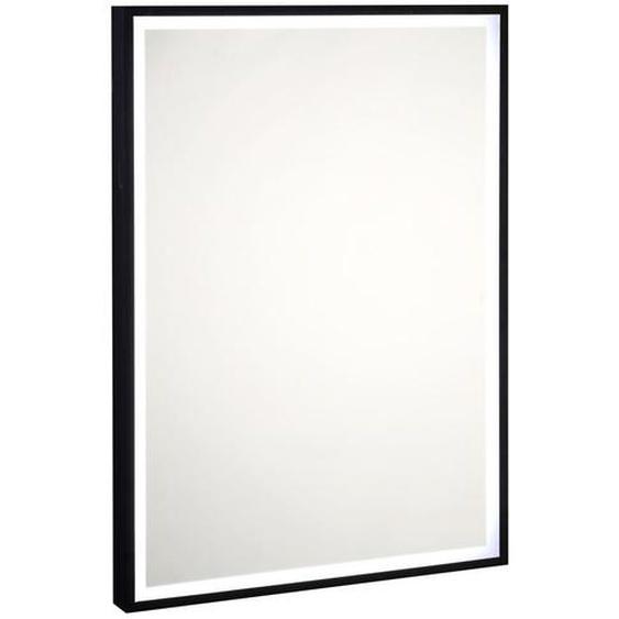 utz Badezimmerspiegel Schwarz , Glas , 50x70x5 cm