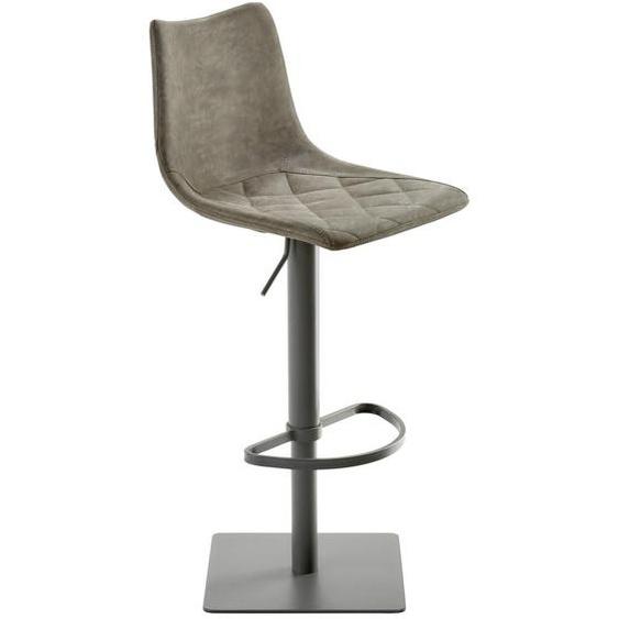 utz Barhocker Lederlook Weiß , Textil , 43x85-110x50 cm