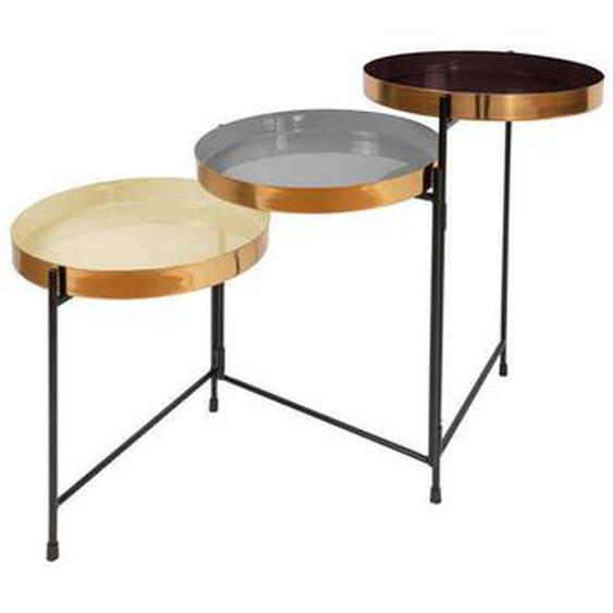 utz Beistelltisch Mehrfarbig , Mehrfarbig , Metall , 96.5x60.5x30.5 cm