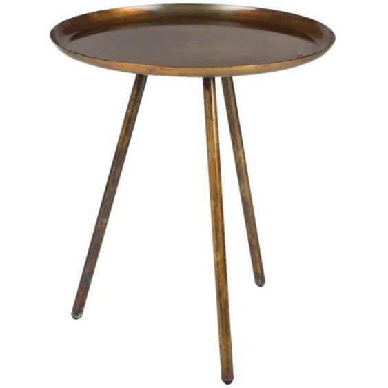 utz Beistelltisch rund Orange , Metall , 39x45x39 cm