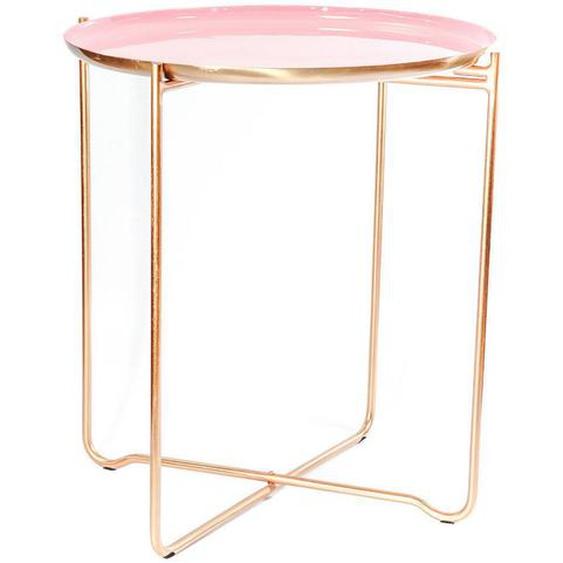 utz Beistelltisch rund Rosa, Orange , Metall , 50.5x56.5x50.5 cm