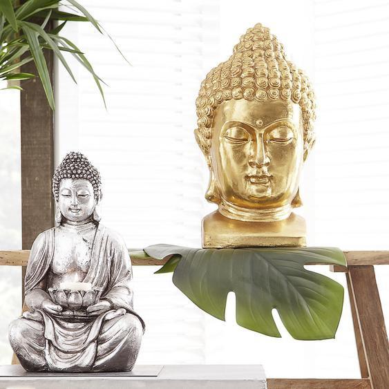 utz Buddhakopf , Gold , Kunststoff , 27x47x25 cm