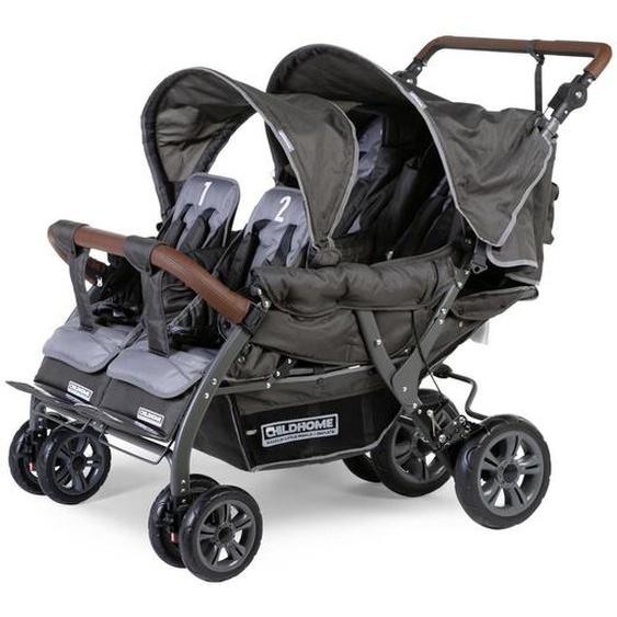 utz Childhome Quadruple Vierlingswagen Grau , Metall , 85x108x130 cm