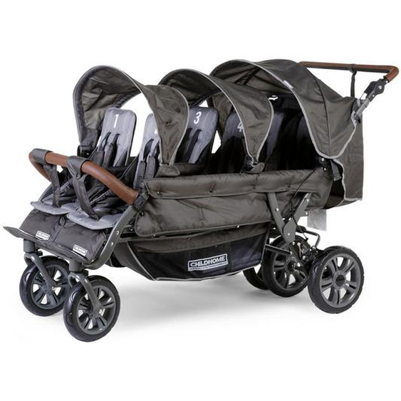 utz Childhome Sixseater Sechslingswagen Grau , Metall , 85x107x163 cm