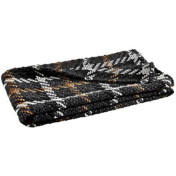 utz Decke 120/180 cm Mehrfarbig , Textil , Karo , 120 cm