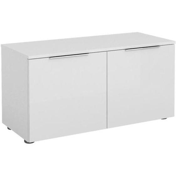 utz Garderobenbank Weiß , Glas , 1-Sitzer , 90x46x40 cm