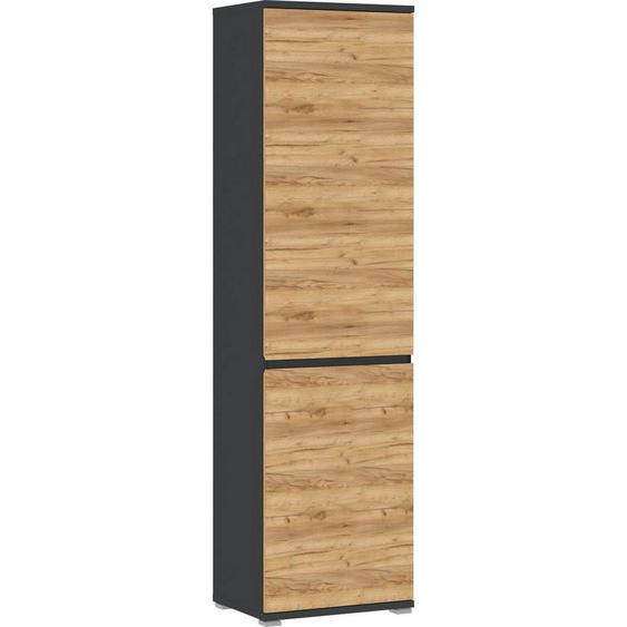 utz Garderobenschrank Braun , Holzwerkstoff , 5 Fächer , 54x200x40 cm