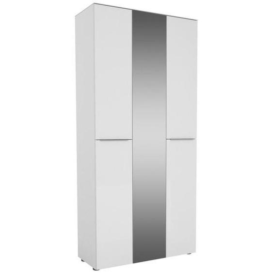 utz Garderobenschrank Weiß , Holzwerkstoff , 14 Fächer , 90x195x40 cm