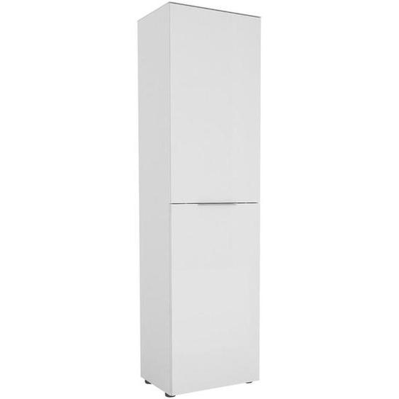 utz Garderobenschrank Weiß , Holzwerkstoff , 7 Fächer , 53x195x40 cm