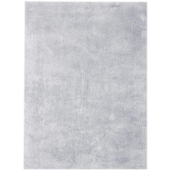 utz Hochflorteppich 120/170 cm Pastellblau , Textil , 120x170 cm