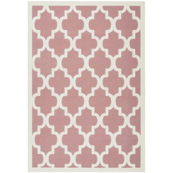utz Hochflorteppich 160/230 cm Beige, Rosa , Textil , orientalisch , 160x230 cm