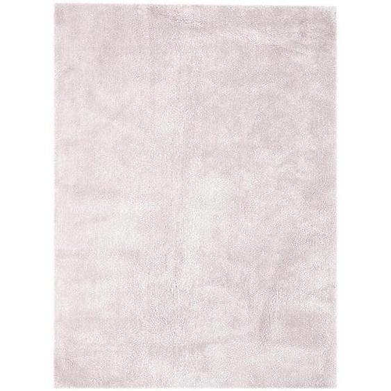 utz Hochflorteppich 160/230 cm Rosa , Textil , 160x230 cm