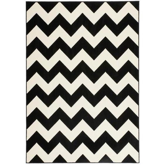 utz Hochflorteppich 200/290 cm Schwarz , Textil , orientalisch , 200x290 cm