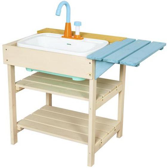 utz Kinder-Matschküche Holz Blau, Braun , Tanne , 38x60x52 cm