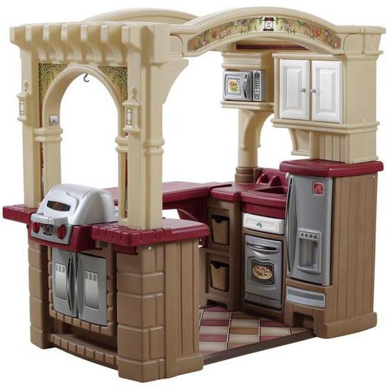 utz Kinderküche , Rot, Beige , Kunststoff , 129x119.4x92.4 cm