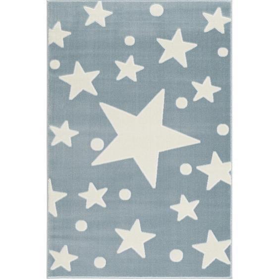 utz Kinderteppich 100/160 cm Blau , Textil , Stern , 100 cm