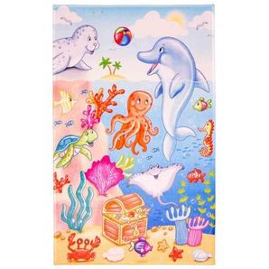 Kinderteppich Lovely Kids , Mehrfarbig , Textil , Tier , rechteckig , 100 cm , Oeko-Tex® Standard 100 , für Fußbodenheizung geeignet, rutschfest , Teppiche & Böden, Teppiche, Kinderteppiche
