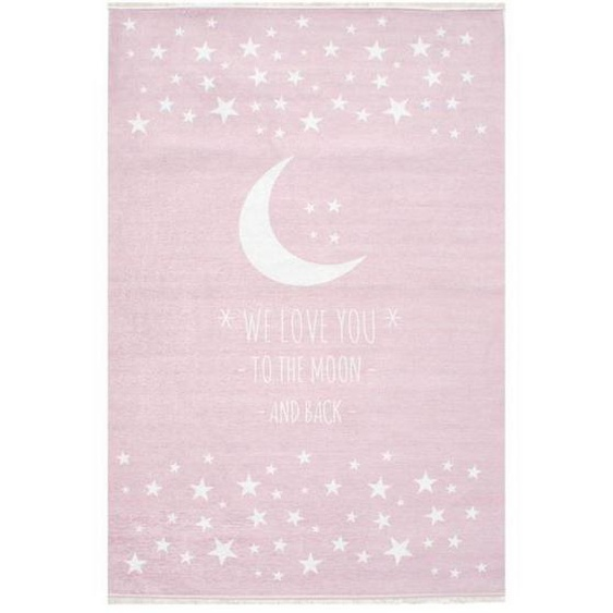 utz Kinderteppich 100/160 cm Weiß , Textil , Stern , 100 cm
