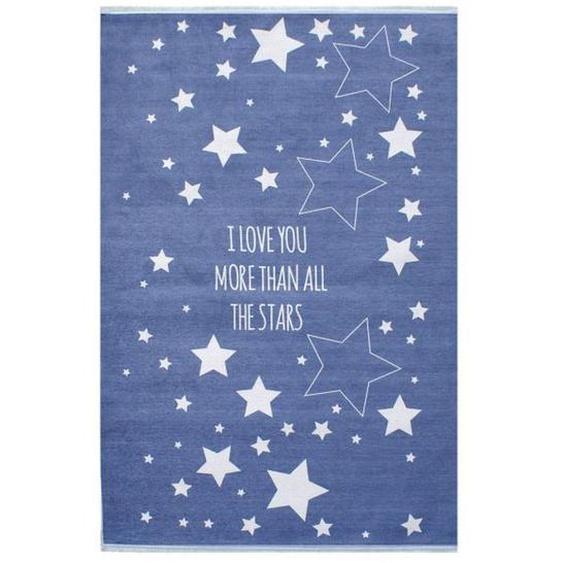 utz Kinderteppich 100/160 cm Weiß , Textil , Stern , 100x160 cm