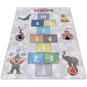 Kinderteppich Play 2909 grau , Grau , Textil , rechteckig , 160 cm , Oeko-Tex® Standard 100 , für Fußbodenheizung geeignet, schmutzabweisend, Hausstauballergiker lichtunempfindlich, antistatisch, waschbar, pflegeleicht, strapazierfähig, leicht