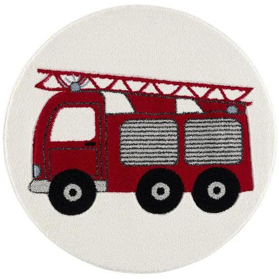utz Kinderteppich Rot , Textil , Traktor