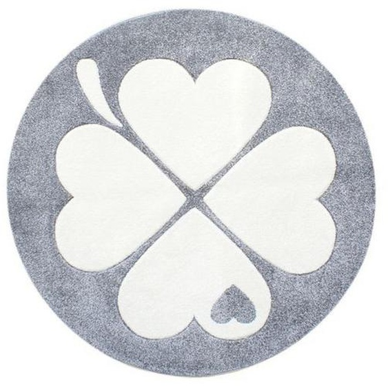utz Kinderteppich Weiß , Silber, Weiß , Textil , Blätter