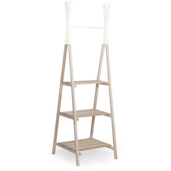 utz Kleiderständer Beige , Weiß , Holz , Buche , vollmassiv , 60x60x197.3 cm