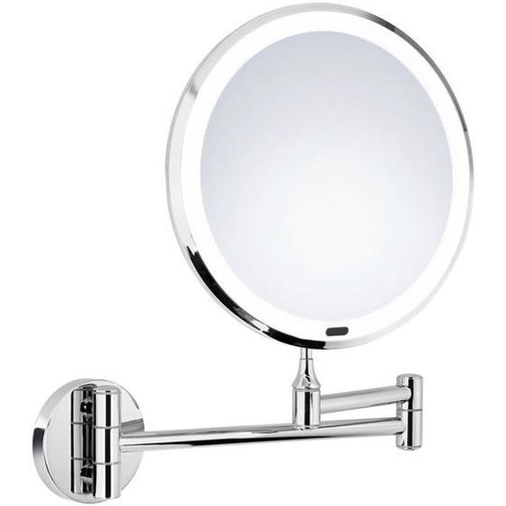 utz Kosmetikspiegel Silber , Kunststoff, Glas