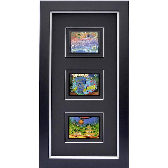 utz Kunstdruck Abstraktes, Architektur , Mehrfarbig , Holzwerkstoff , 45x82.5 cm