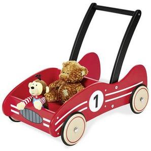 Lauflernwagen Pinolino Kimi , Rot, Schwarz , Holz , Birke , massiv , 34x47 cm , Bremswirkung stufenlos einstellbar , Babyspielzeug & Zubehör, Babyspielzeug, Lauflernhilfen