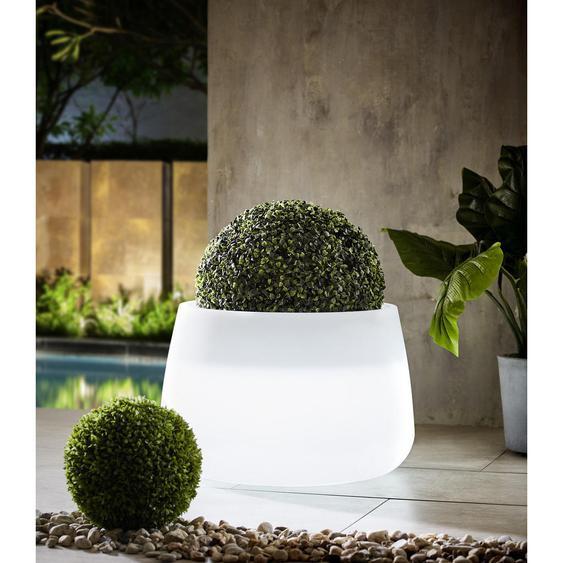 utz LED-Blumentopf Weiß , 59x39 cm