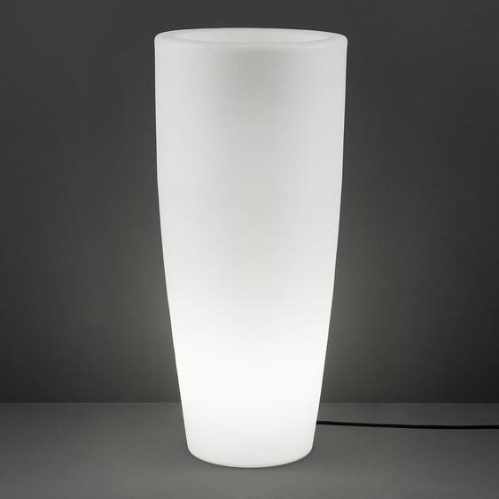 utz LED-Blumentopf Weiß , Kunststoff , 40x90x40 cm