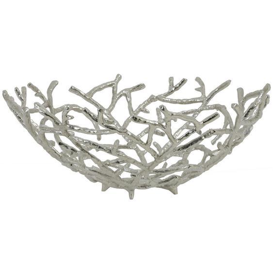 utz Obstschale Metall , Silber , 14 cm