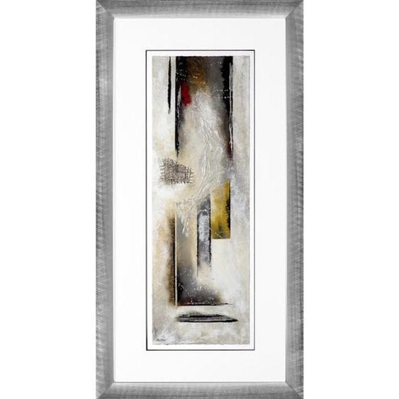 utz Originalbild Abstraktes , Mehrfarbig , Glas, Papier , 47x90 cm