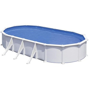 Ovalstahlwandpool 2021 , Weiß , Metall , 670x132 cm , Gartenspaß, Pools und Wasserspaß, Pools