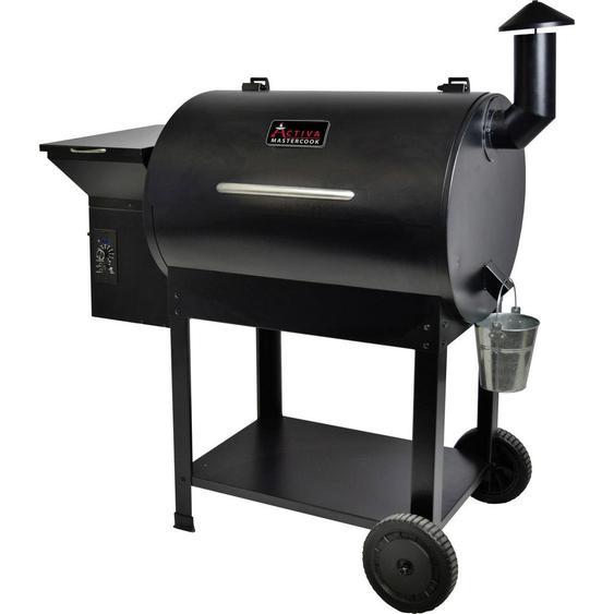 utz Pellet Smoker EL Paso XL Schwarz , Metall, Kunststoff , 55x130x120 cm