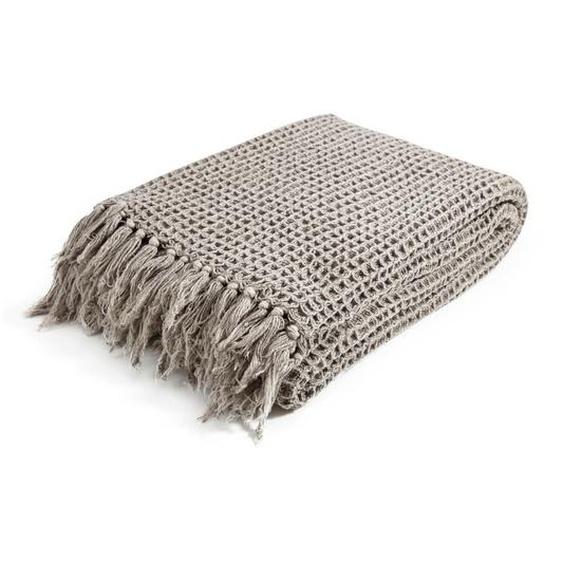 utz Plaid 130/170 cm Braun , Textil , Uni , 130x170 cm