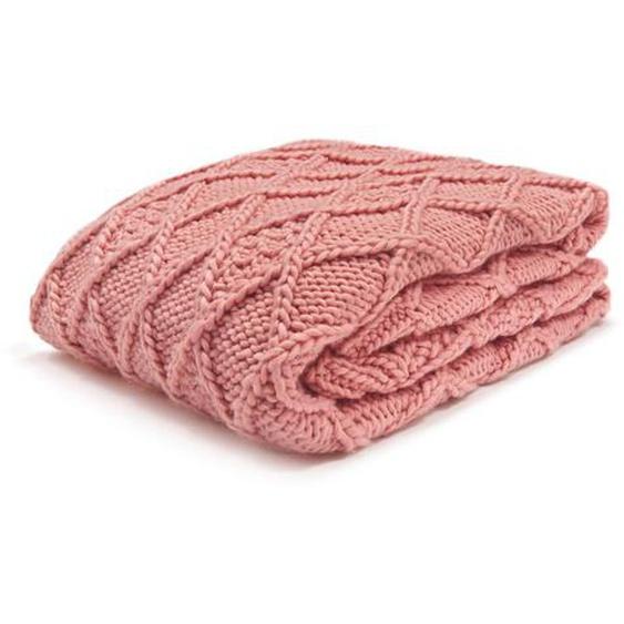 utz Plaid 130/170 cm Rosa , Textil , Uni , 130x170 cm