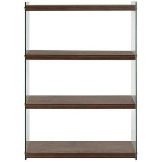 utz Regal Braun , Glas , 4 Fächer , 29.5x113x83 cm