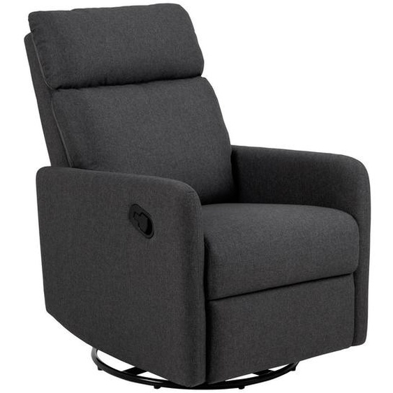 utz Relaxsessel Flachgewebe Relaxfunktion , Grau , Textil , Uni , 93.5x99x67 cm