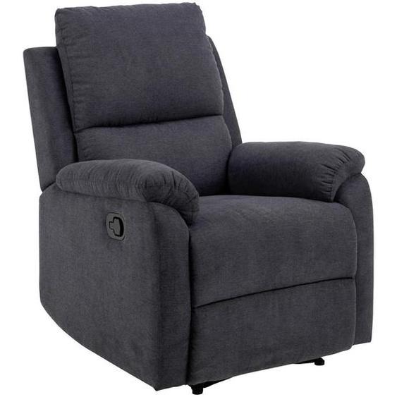 utz Relaxsessel Struktur Relaxfunktion , Grau , Textil , 80x101x90 cm
