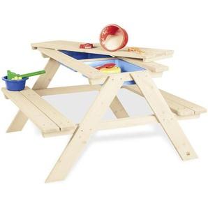 utz Sand- UND Wassertisch Holz Mehrfarbig , Fichte , vollmassiv , 88x52x89 cm