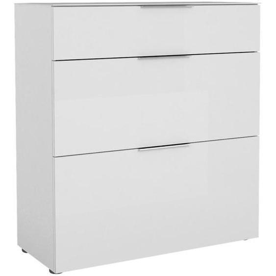 utz Schuhschrank Weiß , Holzwerkstoff , 2 Fächer , 1 Schubladen , 90.2x98.7x40 cm