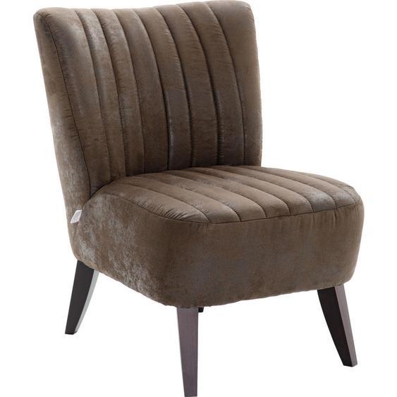 utz Sessel Mikrofaser braun , Textil , Used look , 55x80x76 cm