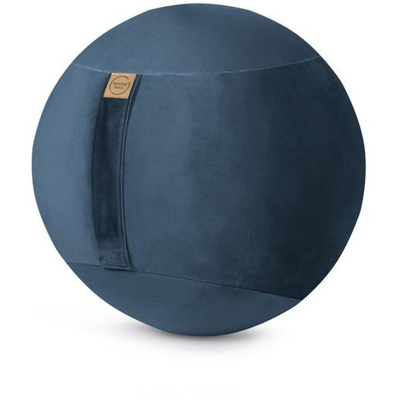 utz Sitzball Samt Uni Grau , Blau , Textil , 145 L